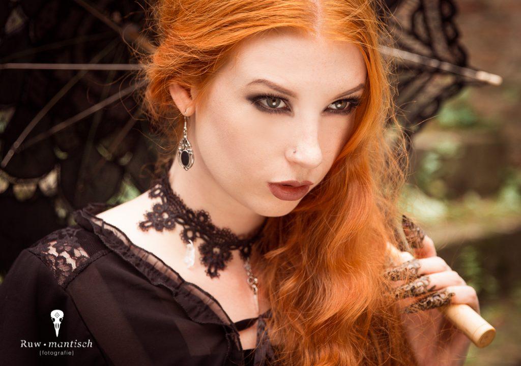 Fotoshoot ruwmantisch bunny glittergun shoot fotografie urbex portret fantasy ruine gothic professioneel myril jewels