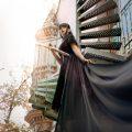 Ruwmantisch portretfotografie foto fotoshoot fantasy sprookjesachtig fairytale styling jurk industrieel ruw vervallen Haarlem Den Haag